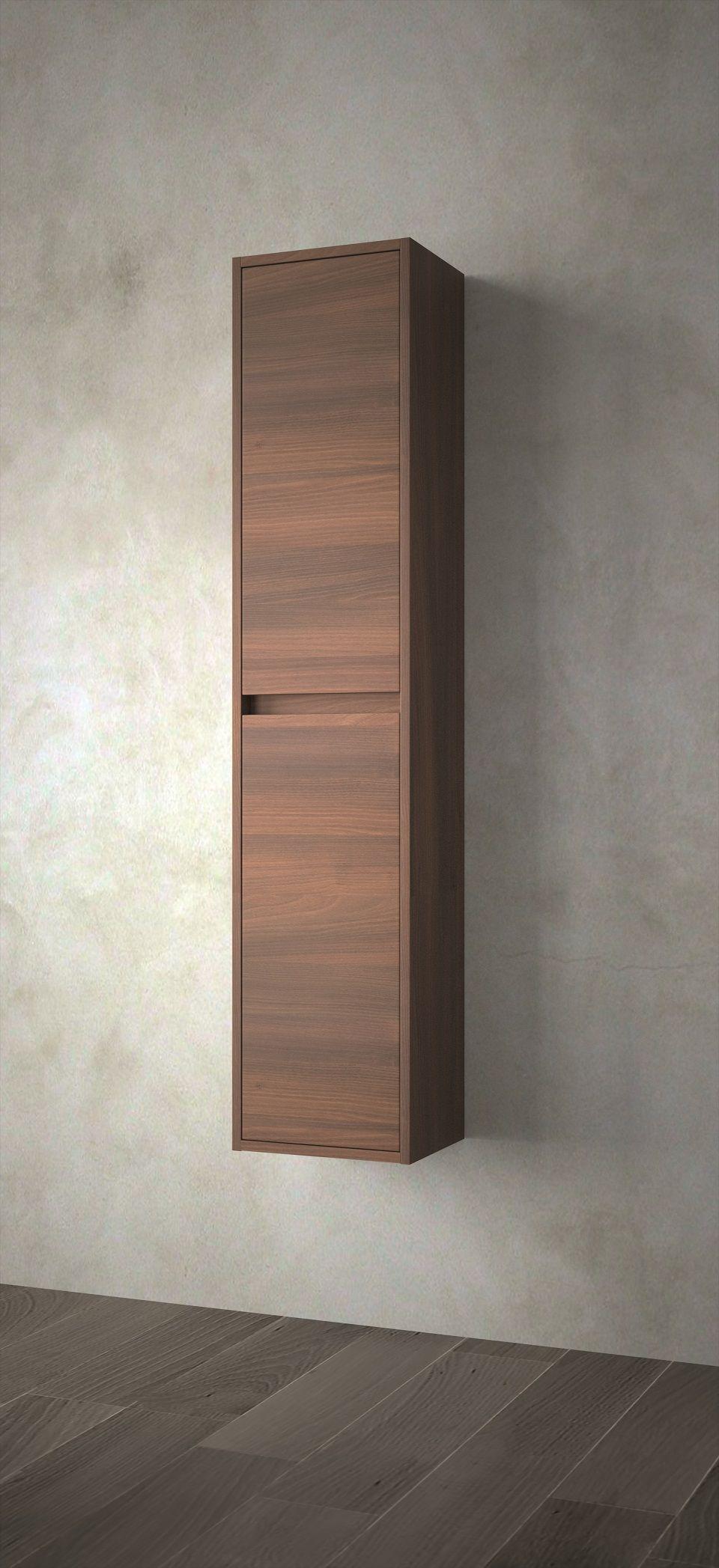 Muebles Project badkamerkast 140x30x24cm brown acacia