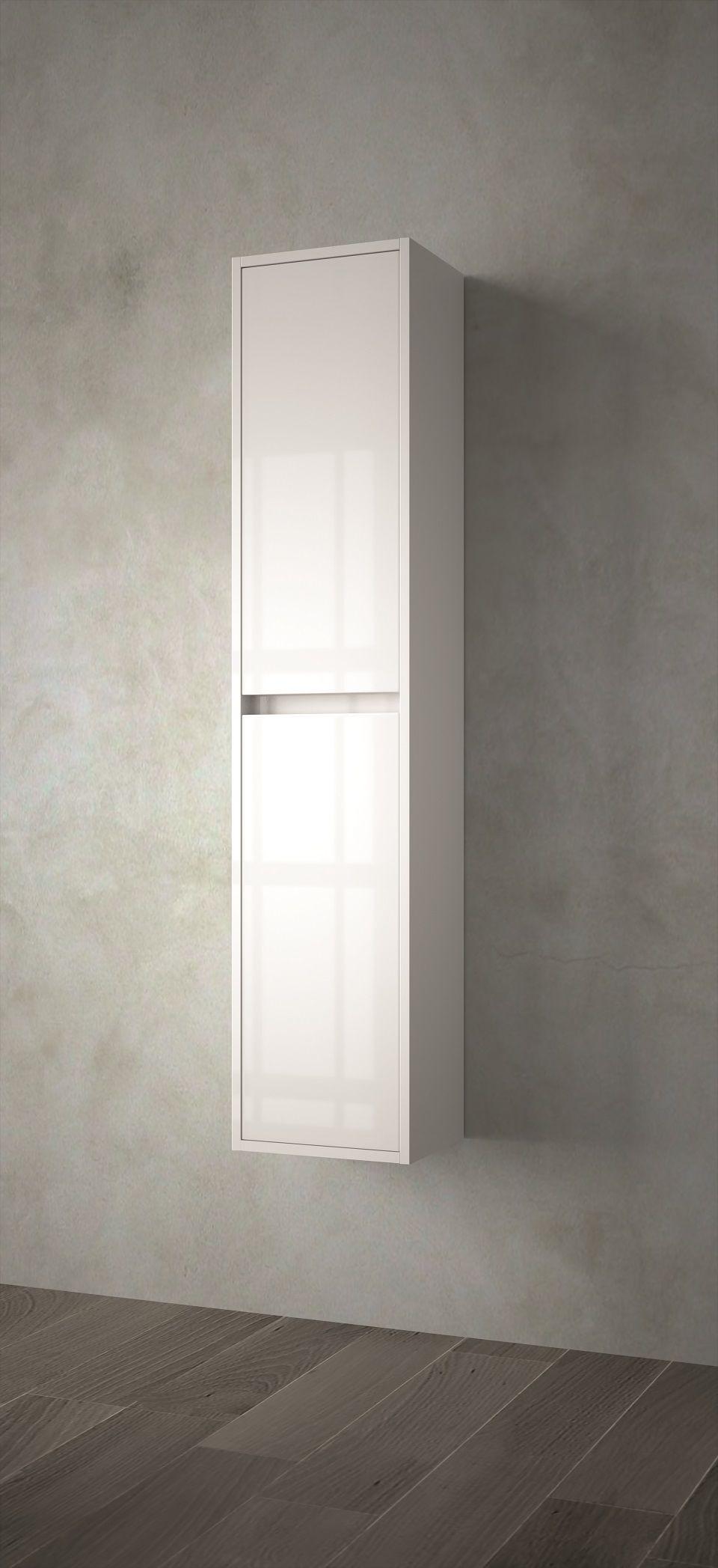 Muebles Project badkamerkast 140x30x24cm hoogglans wit
