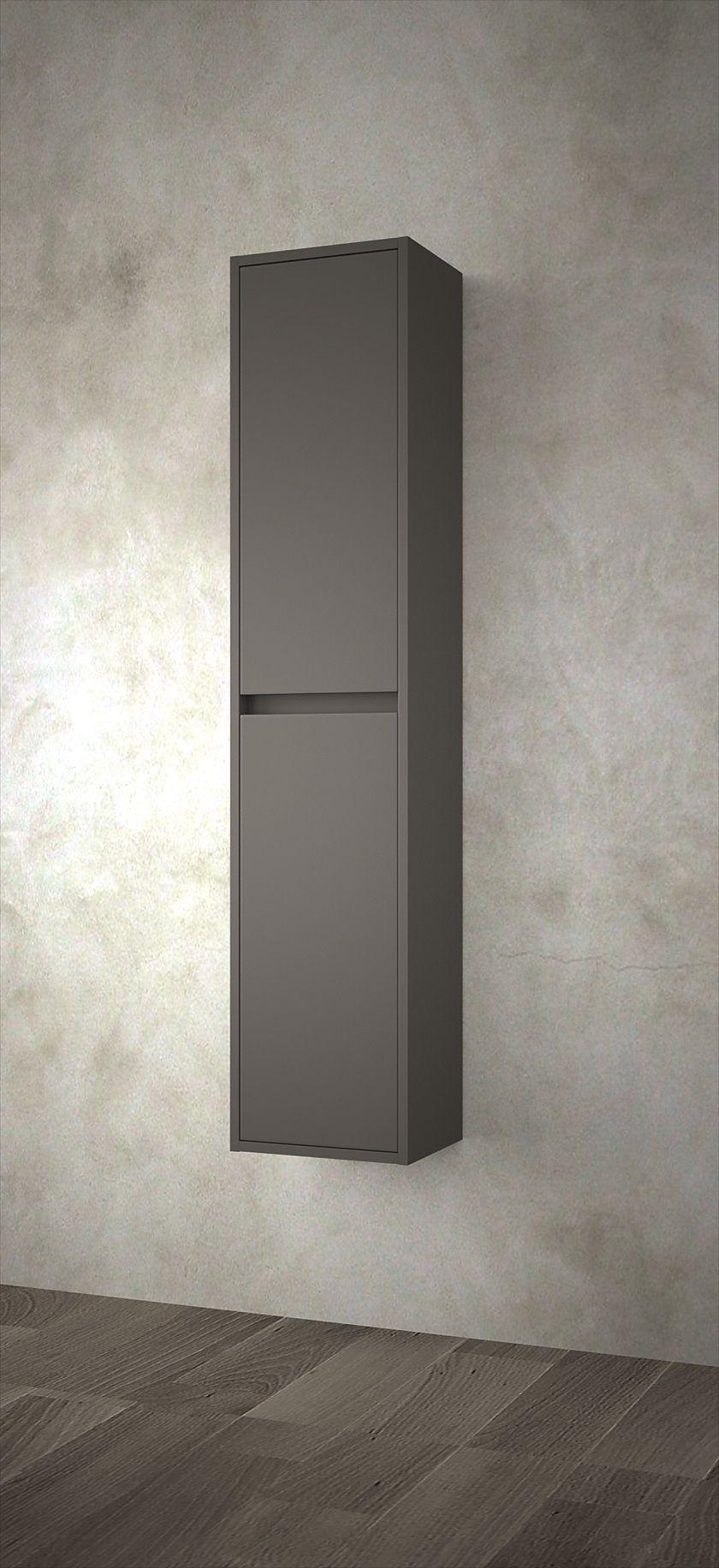 Muebles Project badkamerkast 140x30x24cm mat grijs Schademodel