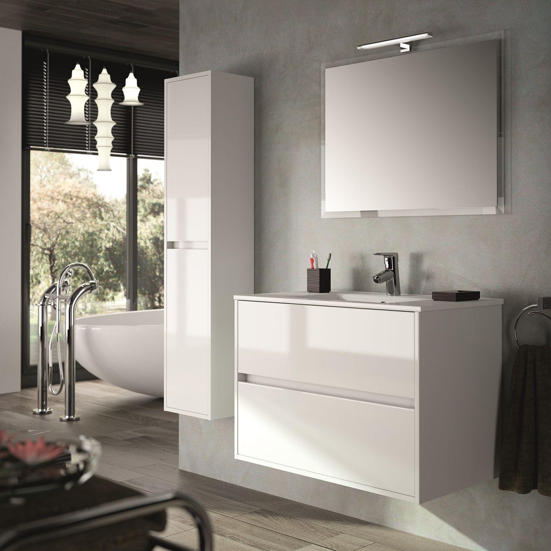 Muebles Project badmeubel hoogglans wit 90cm