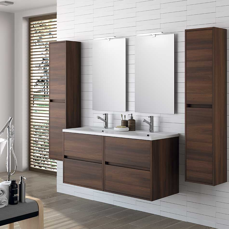 Muebles Project wasmeubel 120cm brown acacia