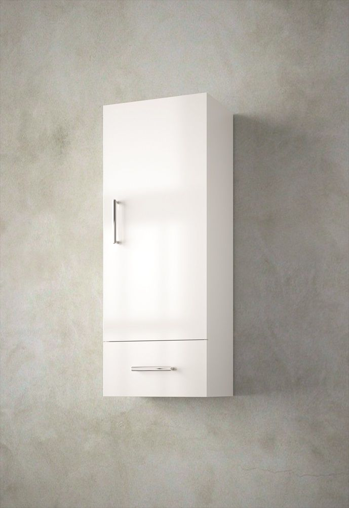 Muebles Tiny halfhoge badkamerkast 94x36x24cm hoogglans wit