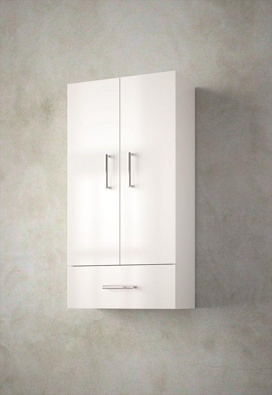 Muebles Tiny halfhoge badkamerkast 94x48x24cm hoogglans wit