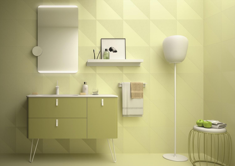 Muebles Unique badmeubel 120cm rechts verde groen met witte grepen