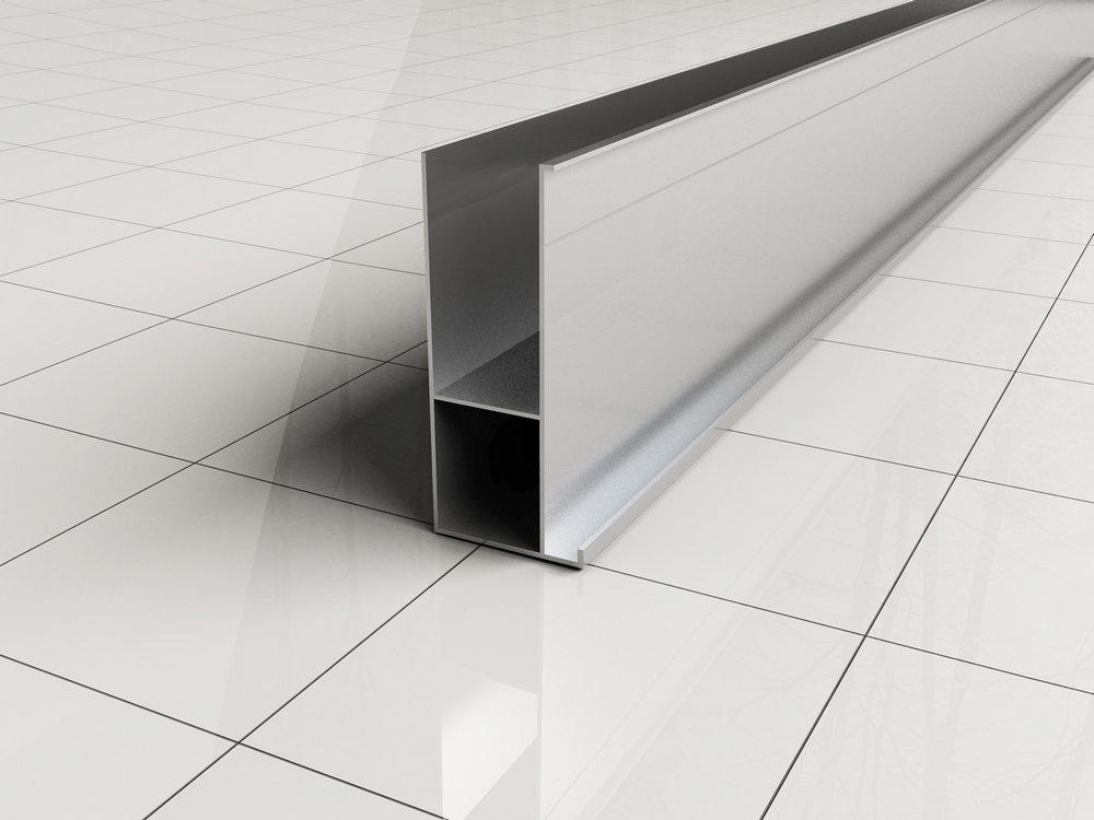 Mueller aluminium verbredingsprofiel voor douchecabines 3x200cm