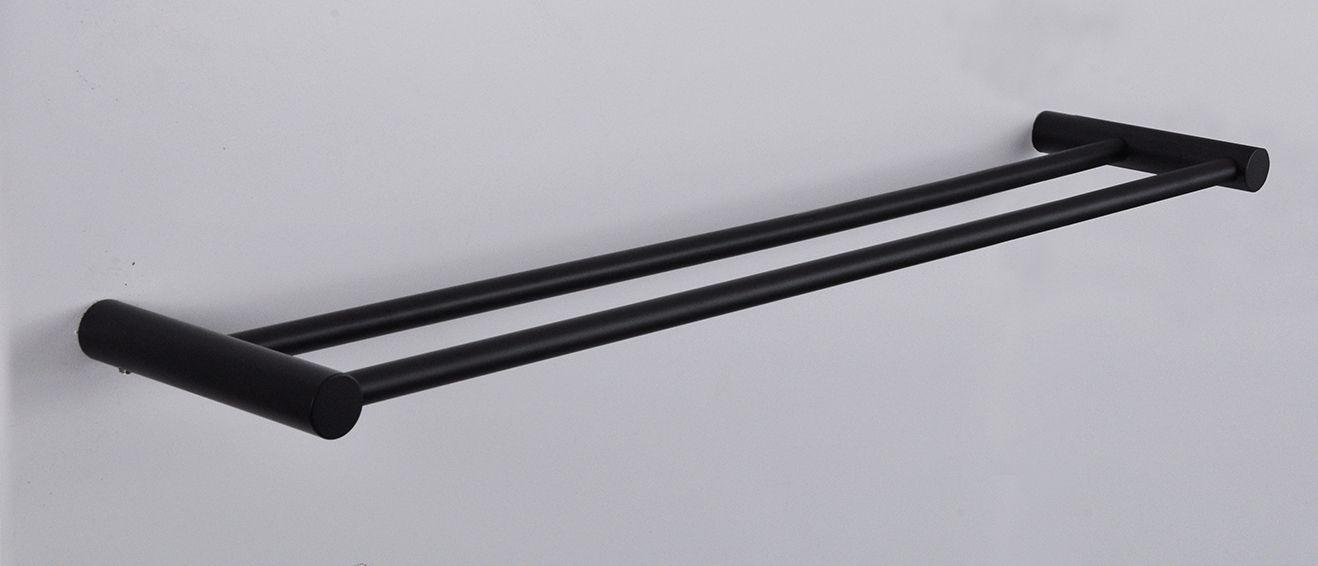 Mueller Black dubbel handdoekrek mat zwart