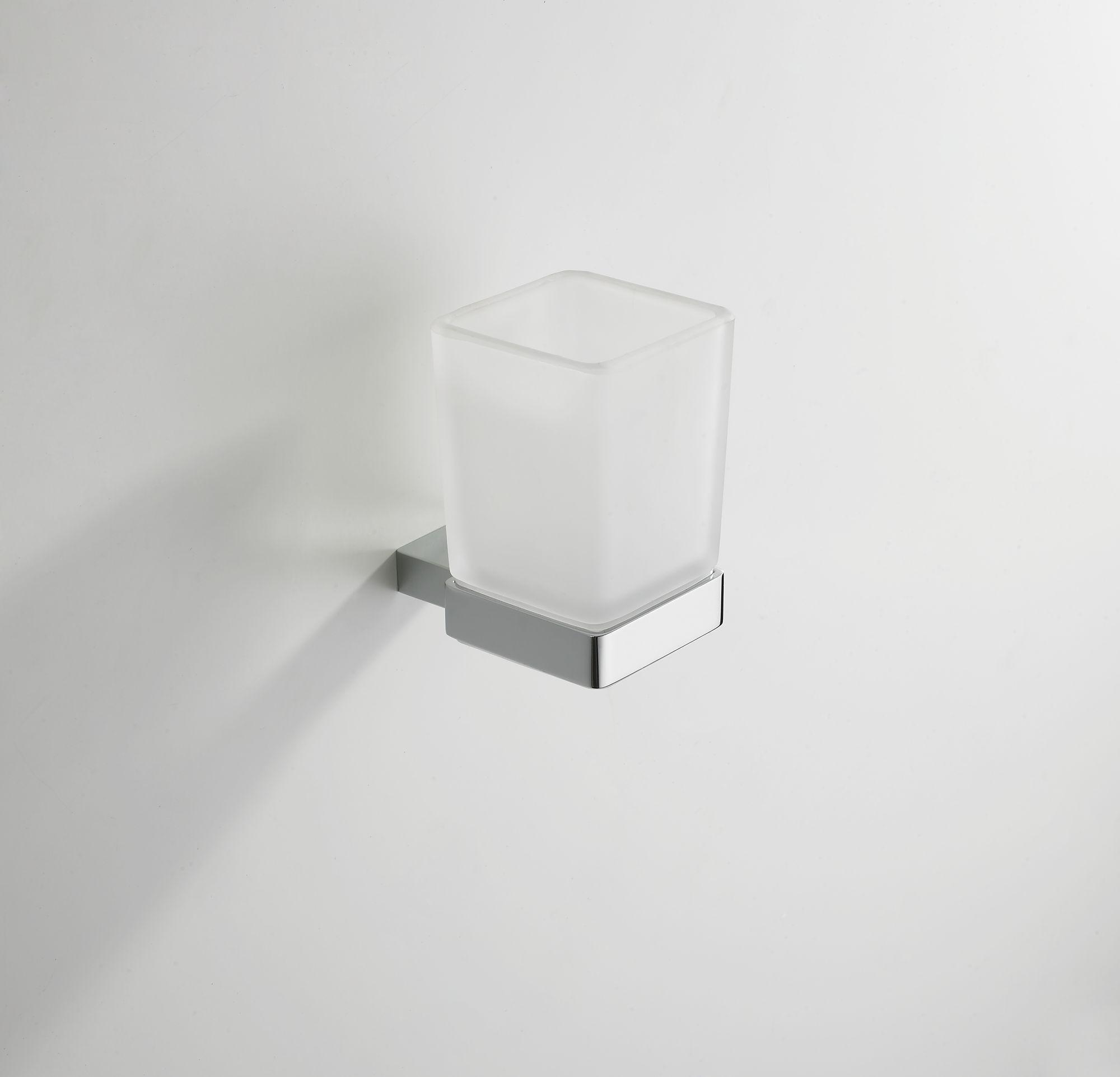 Mueller Cube glashouder met glas chroom