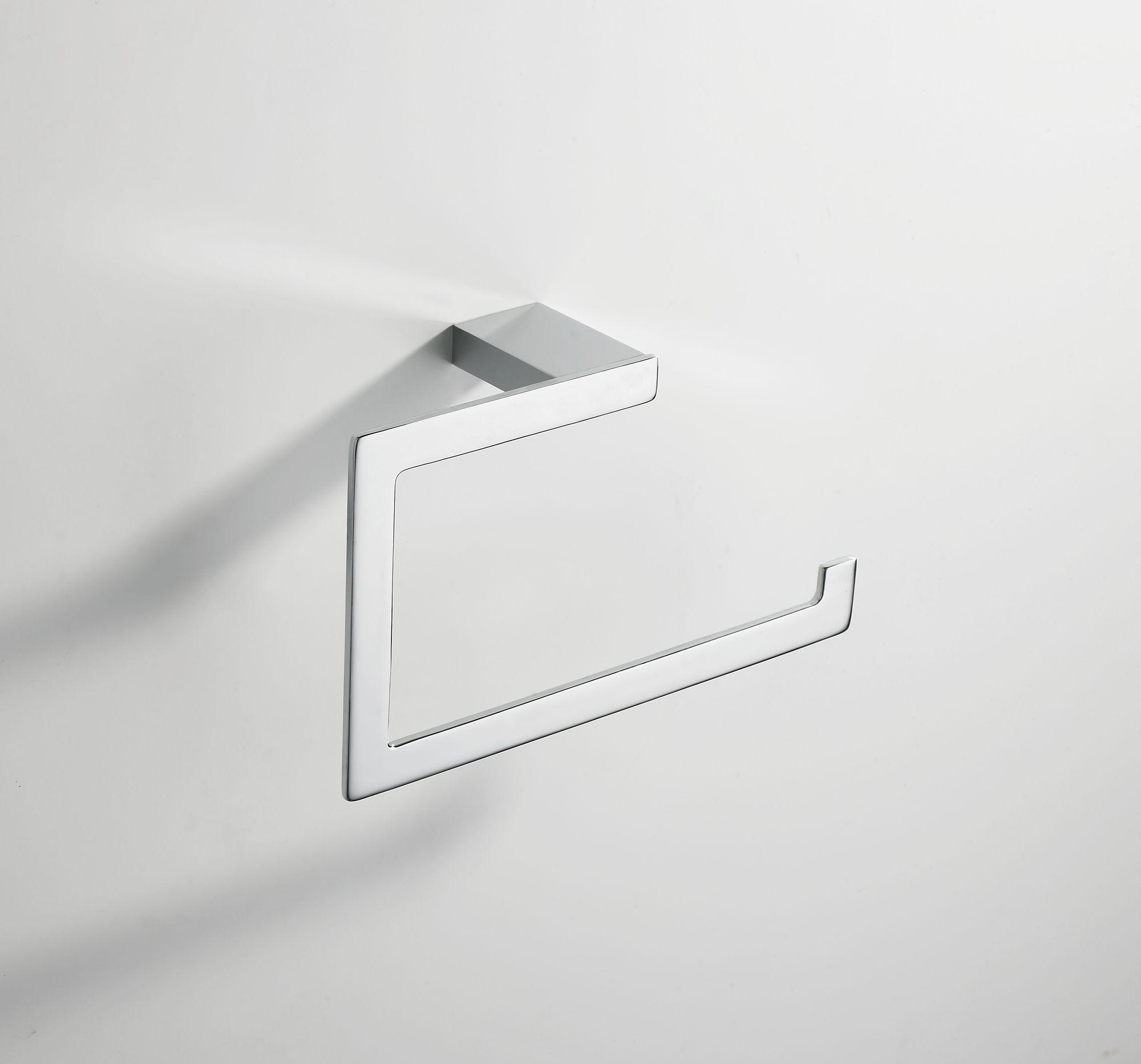 Mueller Cube handdoekring chroom