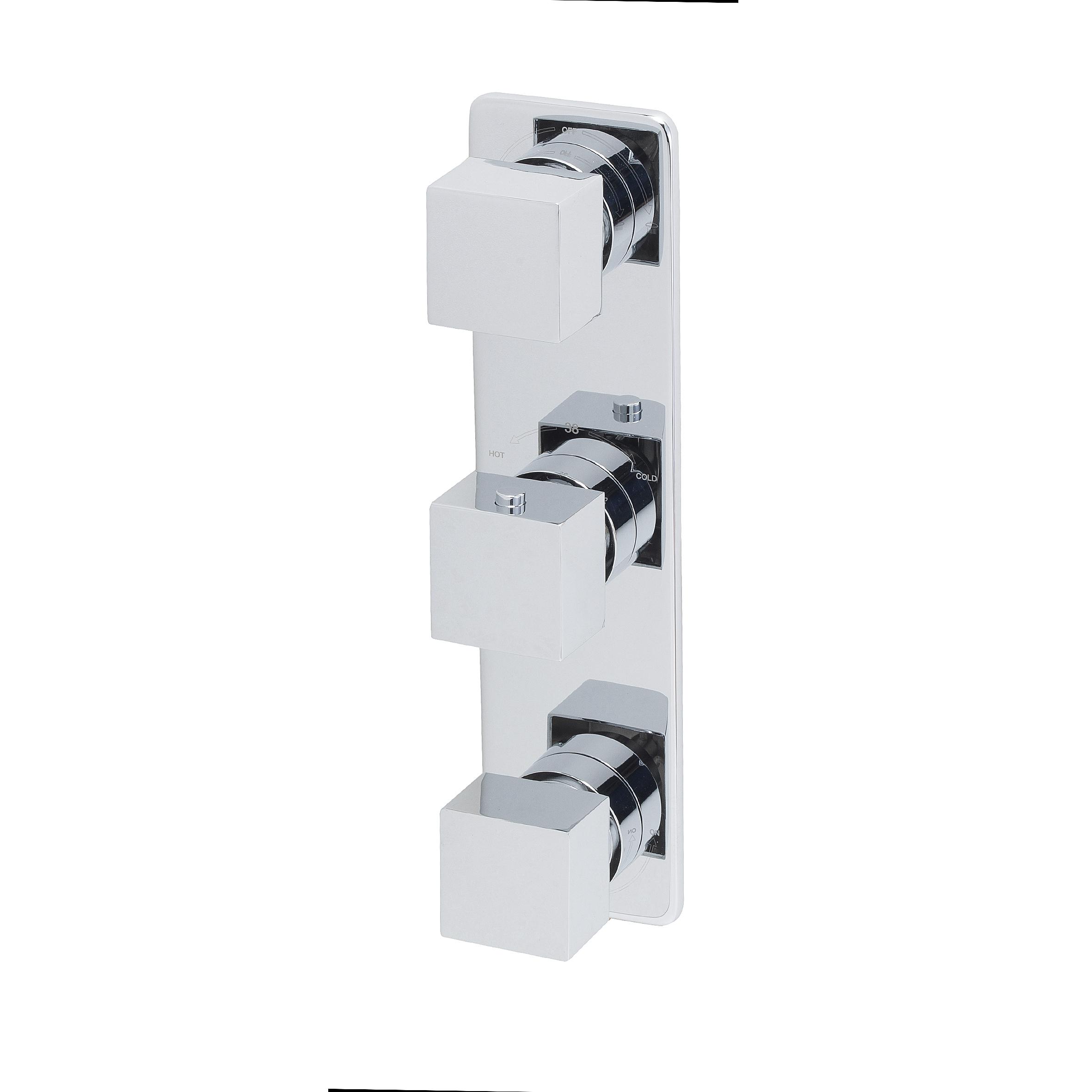 Mueller Cube inbouw 3-wegs douchethermostaat chroom