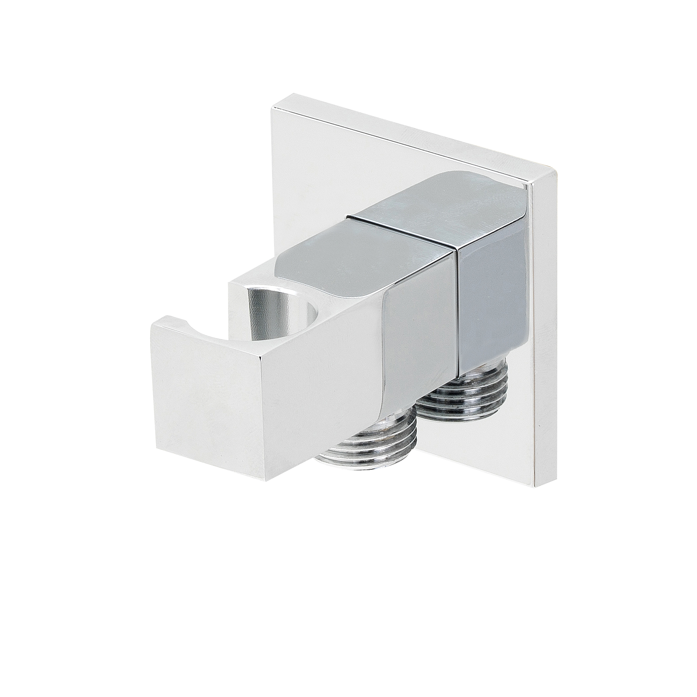 Mueller Cube Luxe muur doucheaansluiting+opsteek vierk.1/2 chr.