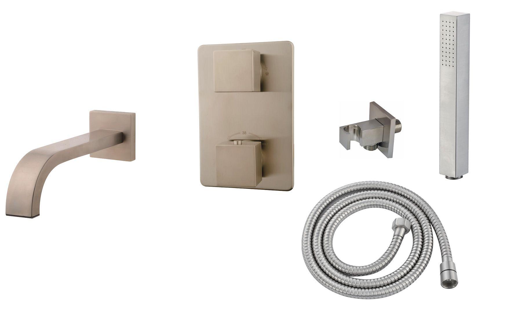 Mueller Cube RVS look inbouw badkraan compleet kopen doe je voordelig hier