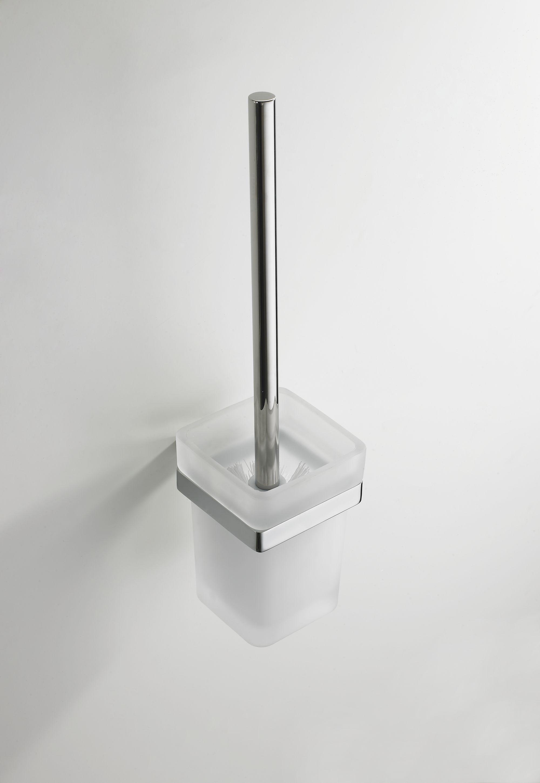 Mueller Cube toiletborstelhouder chroom