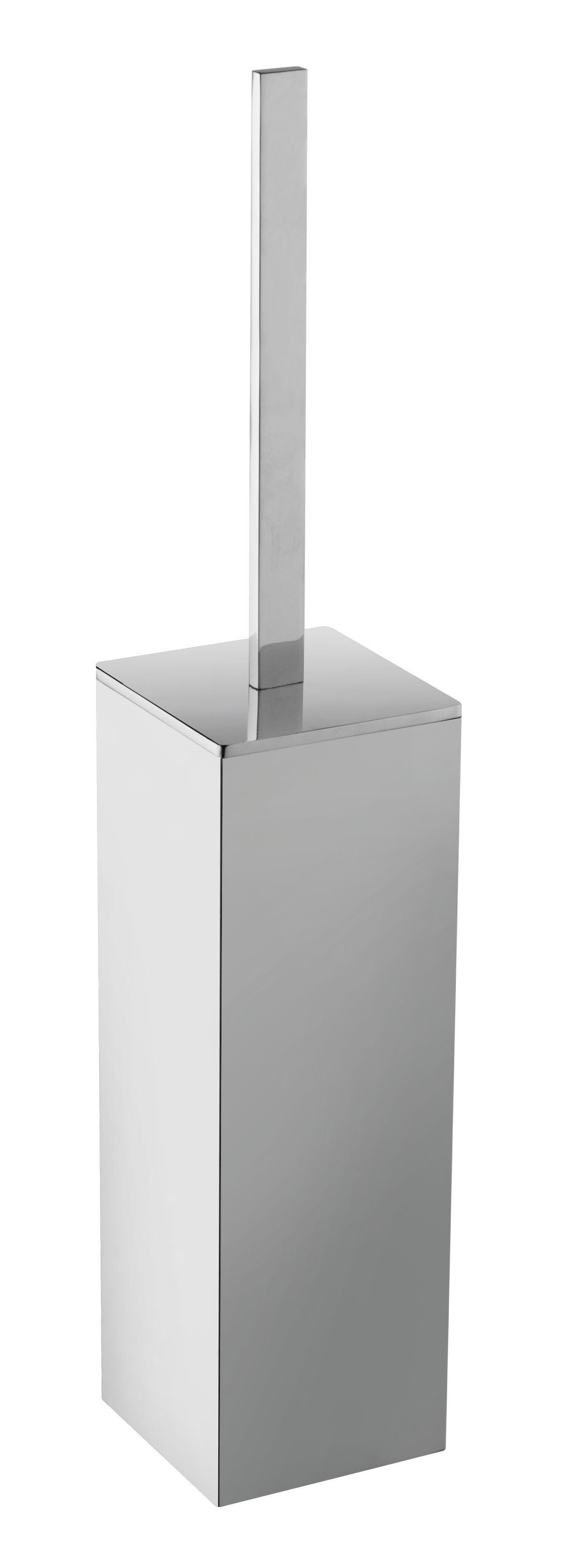 Mueller Cube vrijstaande toiletborstelhouder chroom