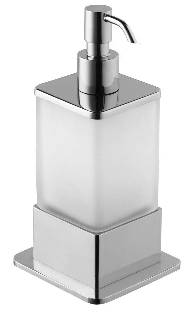Mueller Cube vrijstaande zeepdispenser chroom