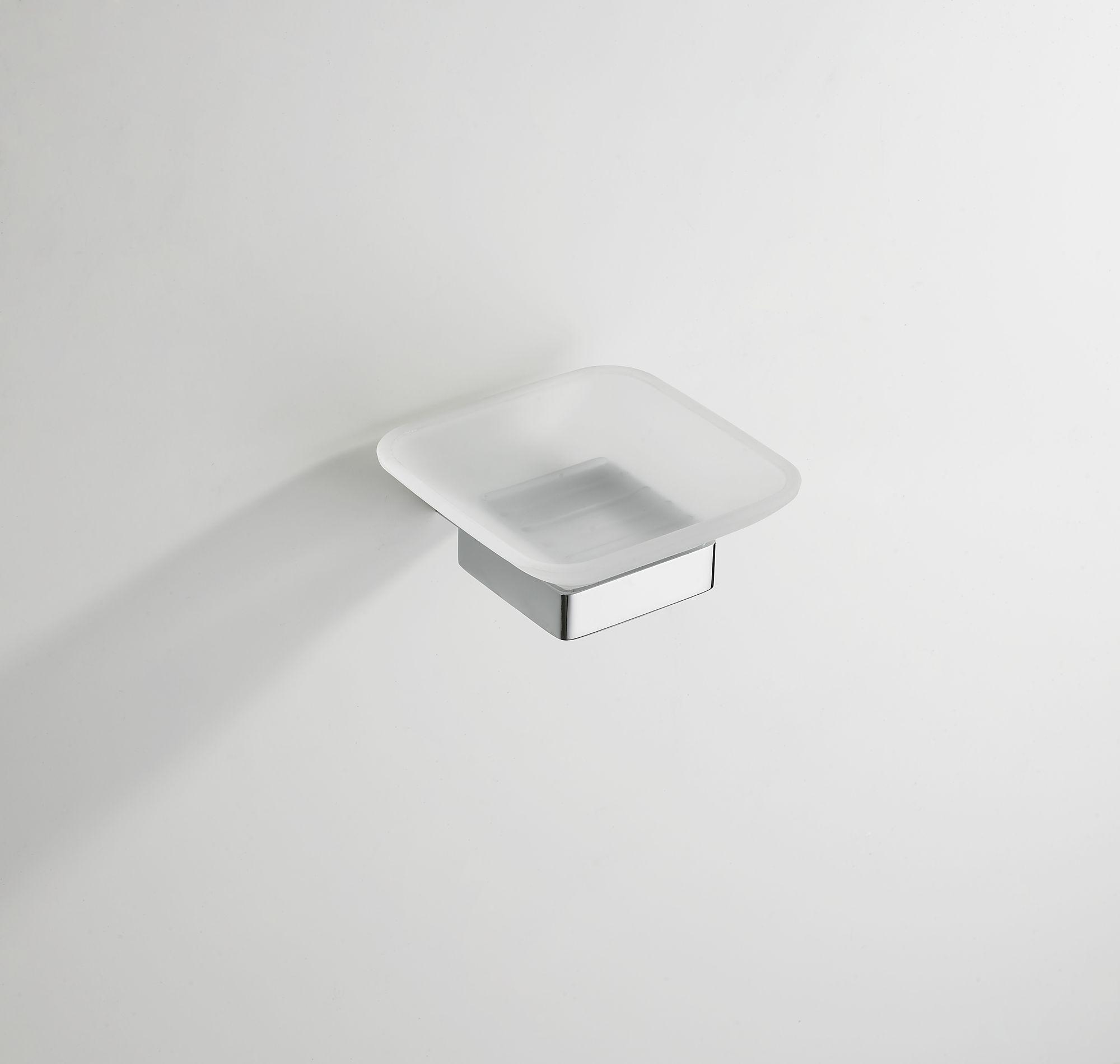 Mueller Cube zeephouder met glas chroom