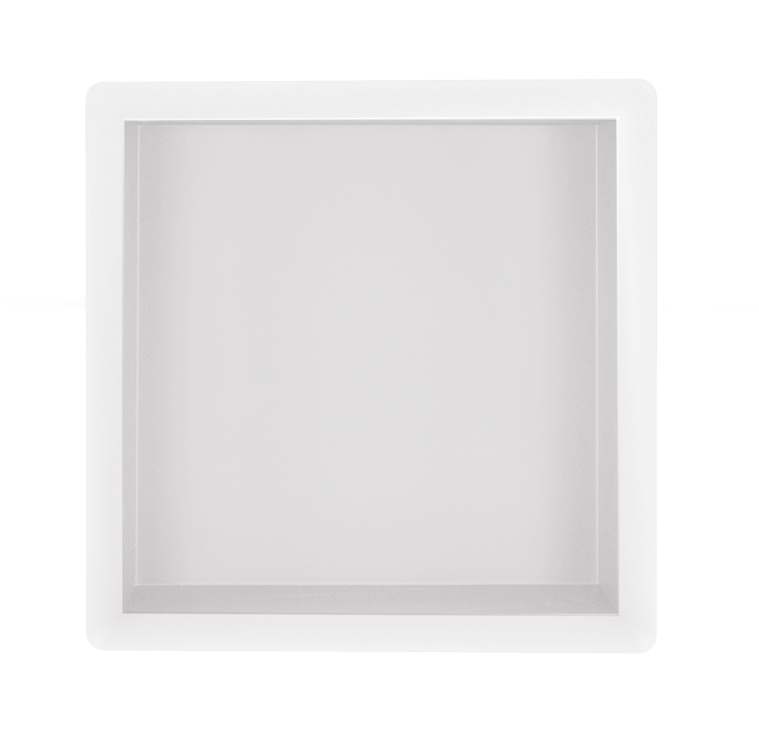 Mueller inbouwnis 30x30x10cm mat wit