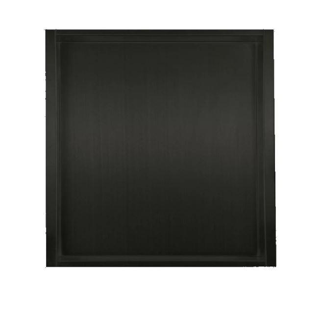 Mueller inbouwnis mat zwart 30x30x7cm RVS