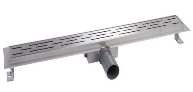 Mueller Luxa RVS douchegoot 50x7cm met flens