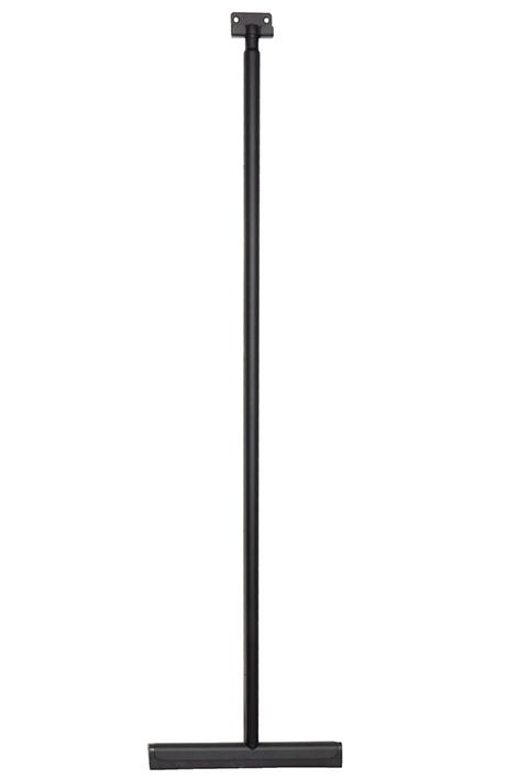Mueller luxe badkamer vloer wisser 120cm met muurbevestiging mat zwart