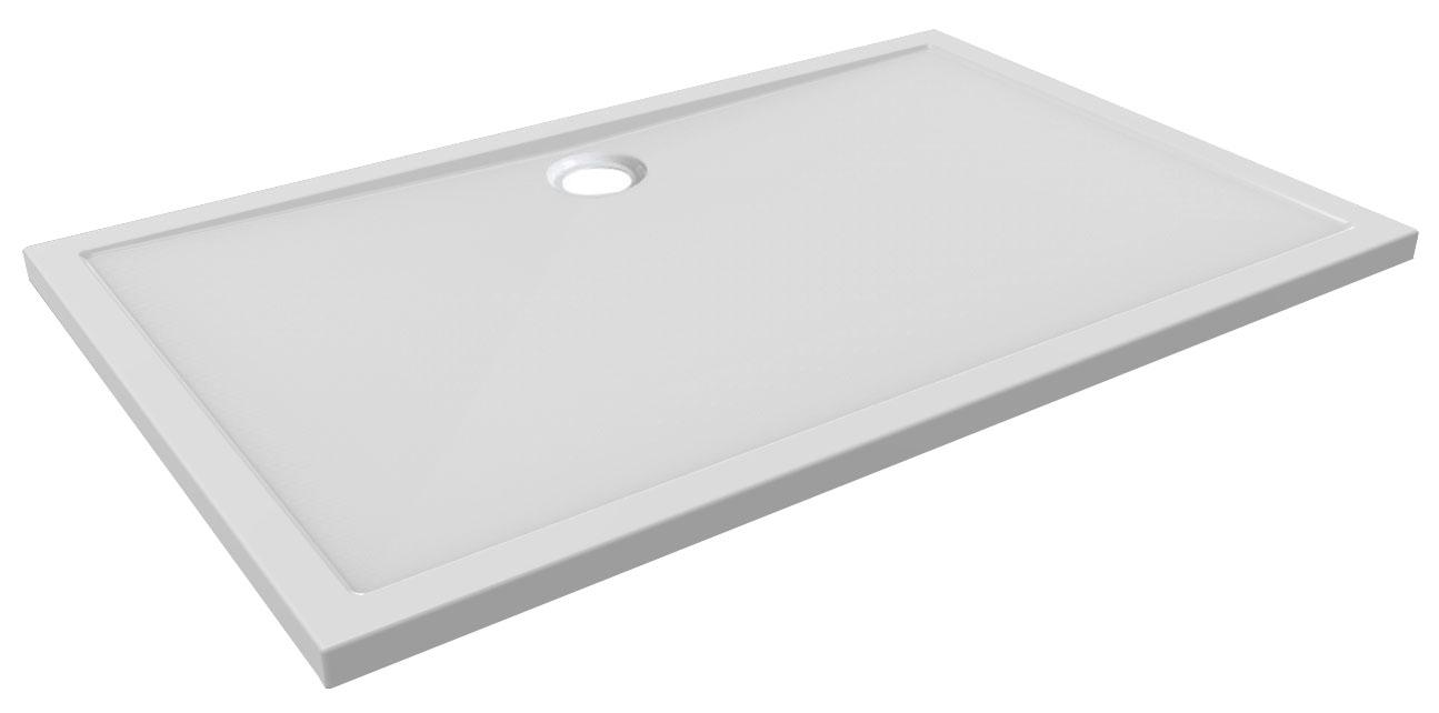 Mueller Luxe douchebak rechthoek 140x90 centimeter acryl wit