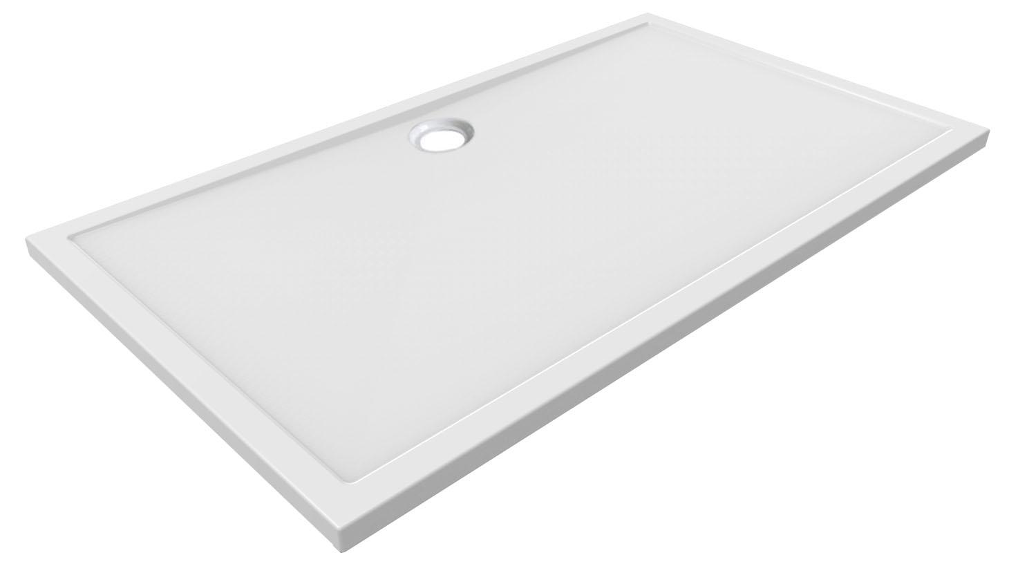 Mueller Luxe douchebak rechthoek 160x90 centimeter acryl wit