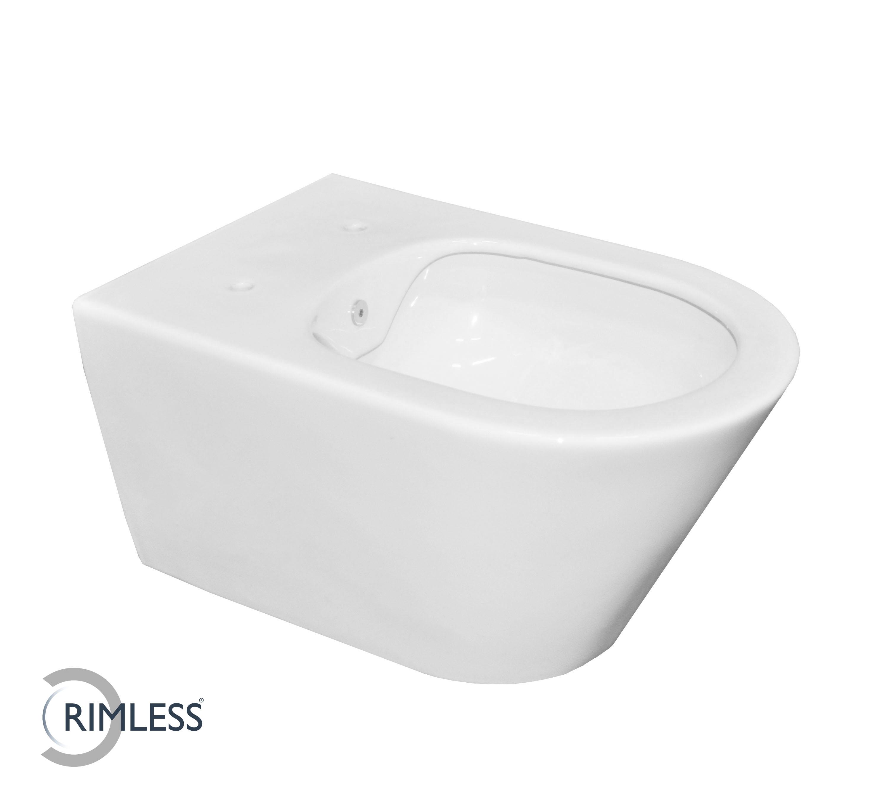 Productafbeelding van Mueller Manti randloze douche wc met bidetfunctie 53cm wit