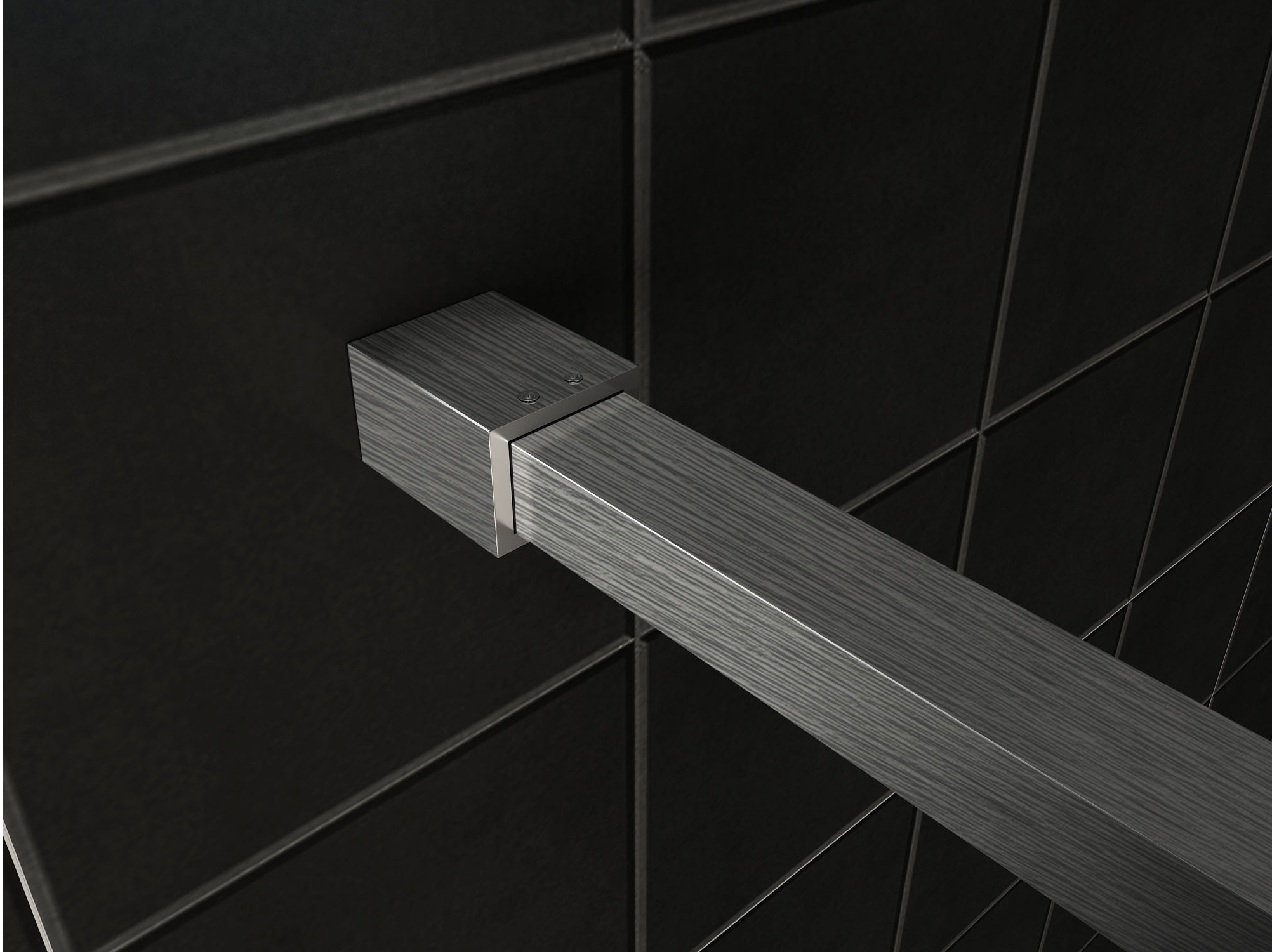Mueller Slimline muurprofiel en stabilisatiestang voor losse glaswand RVS