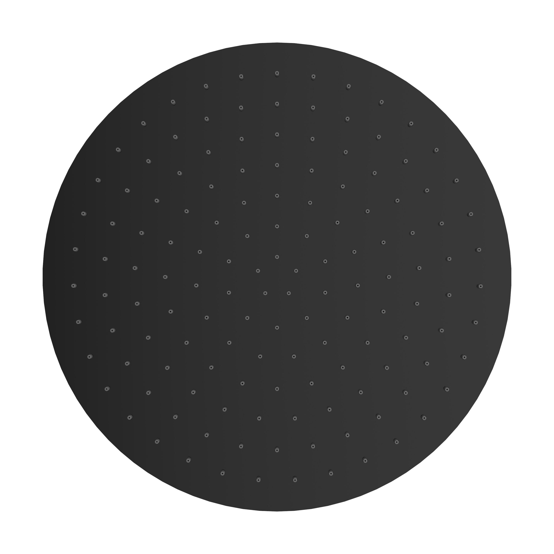 Mueller Round zwarte regendouche 40cm
