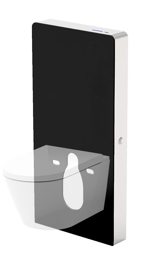 Mueller Sensor toilet reservoir inclusief ombouw zwart