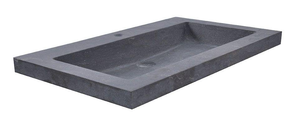 Mueller Single natuursteen meubelwastafel 60x46cm met kraangat