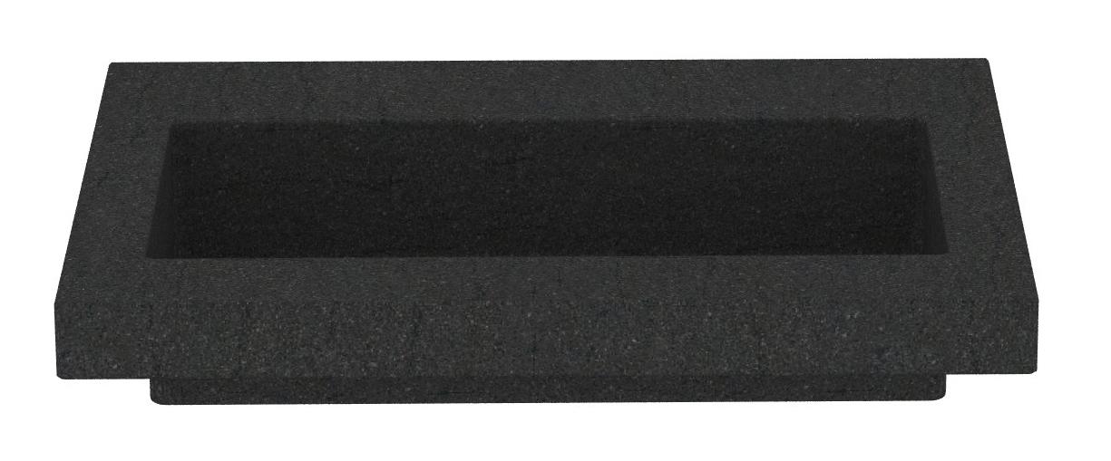 Productafbeelding van Mueller Single natuursteen meubelwastafel 60x46cm met kraangat
