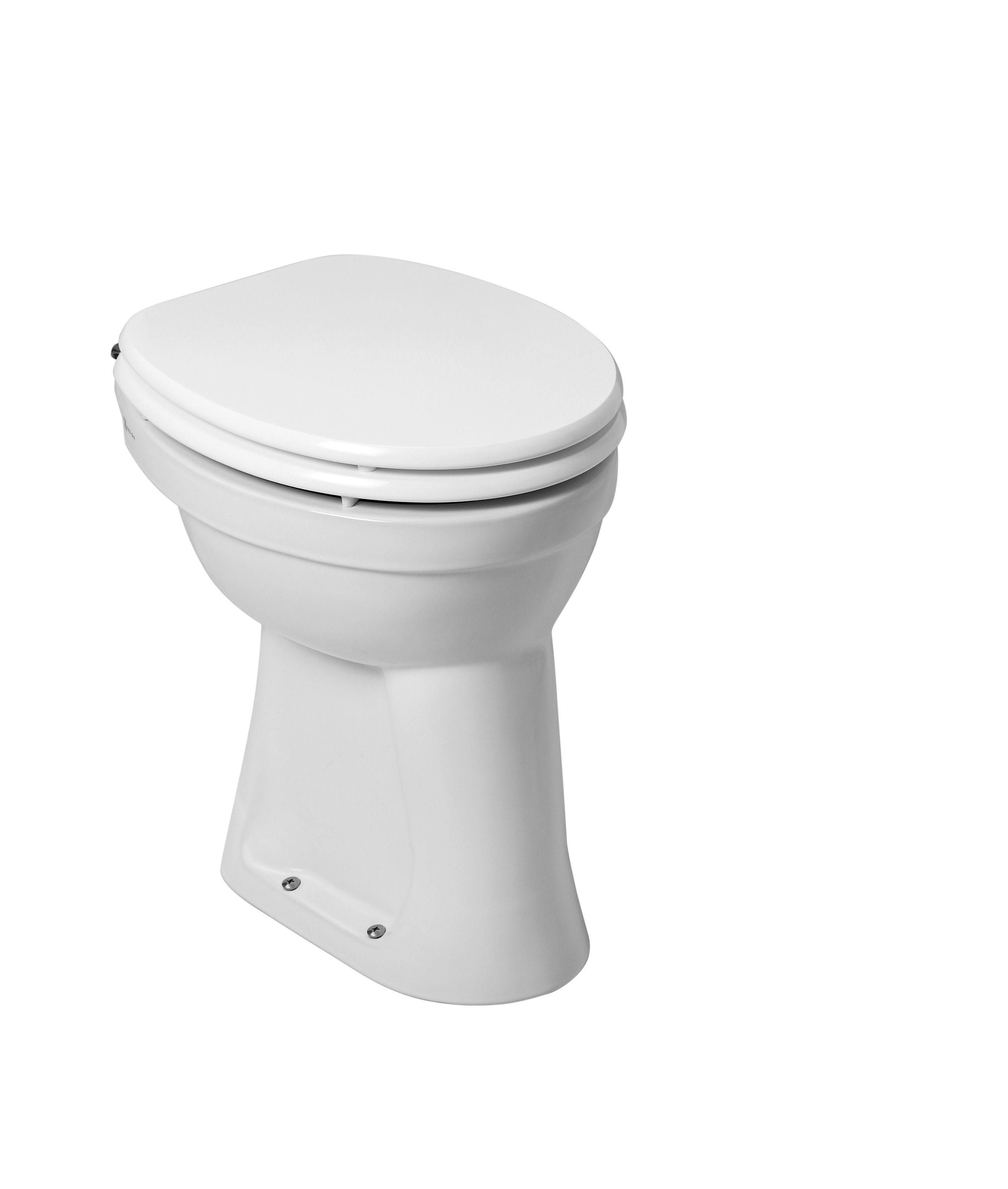Mueller Staande verhoogde toiletpot +6 AO wit