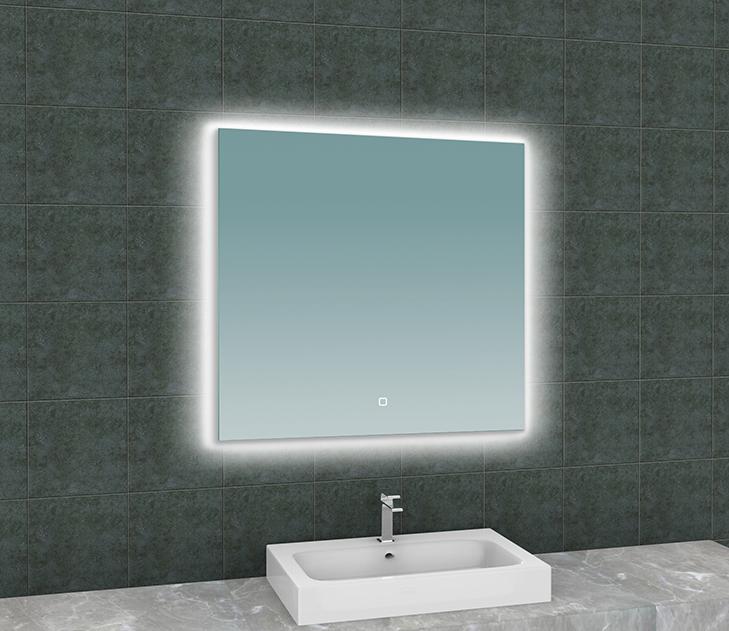 Mueller Sunshine spiegel met LED 80x80