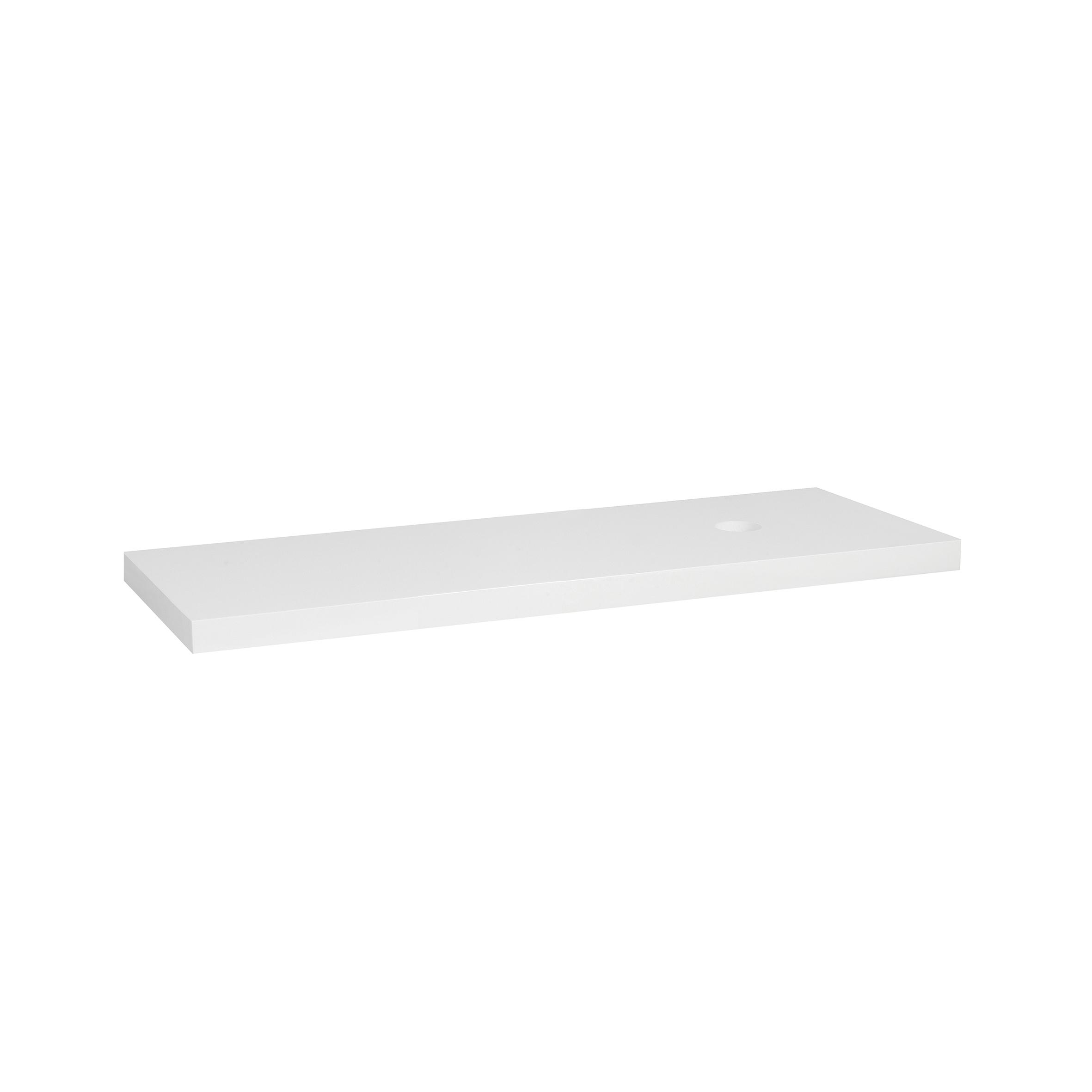 Mueller wastafelblad 100x46x5.5cm 1 gat hoogglans wit
