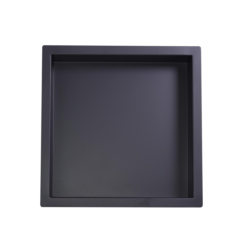 Mueller inbouwnis 30x30x10cm mat-zwart