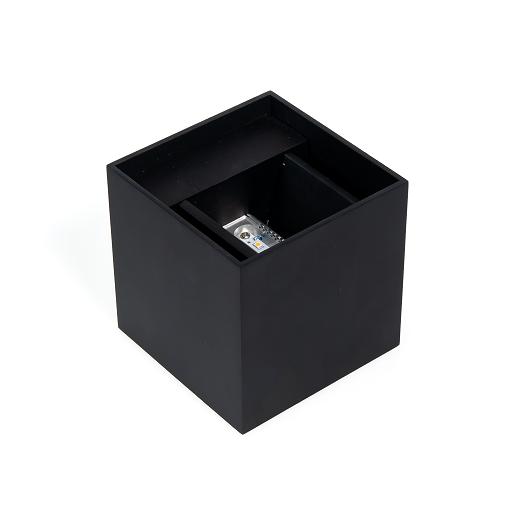 Wandlamp met LED-Verlichting NJOY Cube Zwart 6 Watt