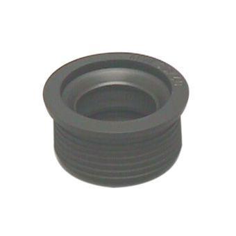 overgangsstuk rubber 40x32mm zwart