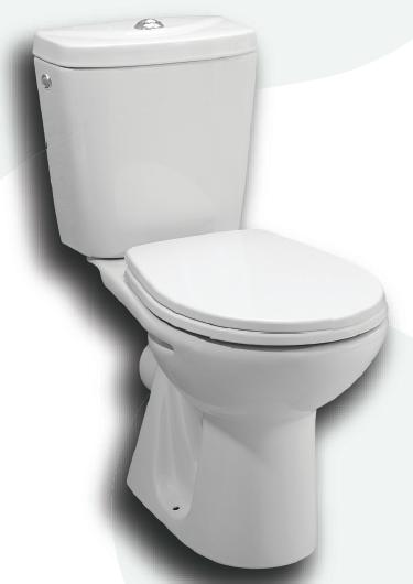 Plazan Basic duoblok toiletpot met onderaansluiting met zitting AO