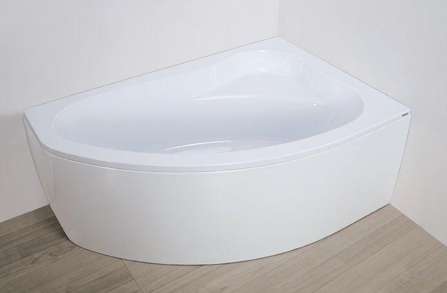Plazan Ekoplus badkuip met paneel 150x85cm wit rechts inclusief potenset