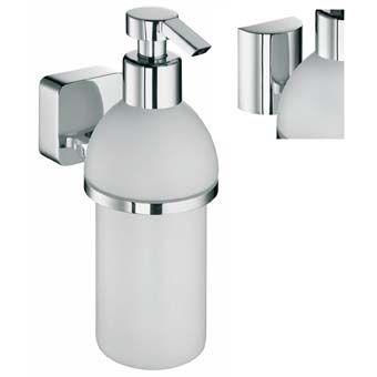 Plieger 2Switch zeepdispenser m. kunststof reservoir m. halfrond en vierkant afdekkapje chroom
