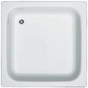 Plieger Brussel douchebak plaatstaal dikwandig vierkant 80x80x15cm wit