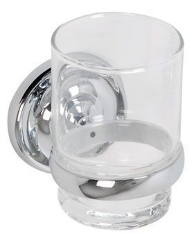 Plieger Charleston bekerhouder met glas chroom