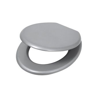 Plieger Classic closetzitting MDF gelakt m. metalen bevestigingsset alu/metalic