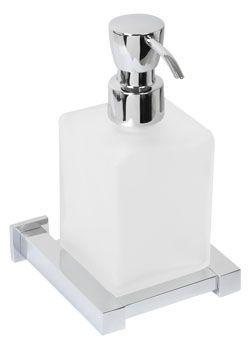 Plieger Cube zeepdispenser matglas chroom