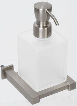 Plieger Cube zeepdispenser matglas inox