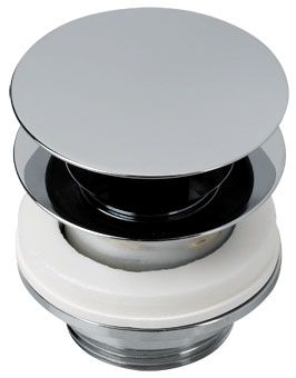 Plieger design afvoerplug v. fontein 5/4 v. bodemdikte max. 75mm chroom
