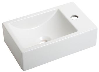 Plieger Houston fontein met kraangat rechts mat wit