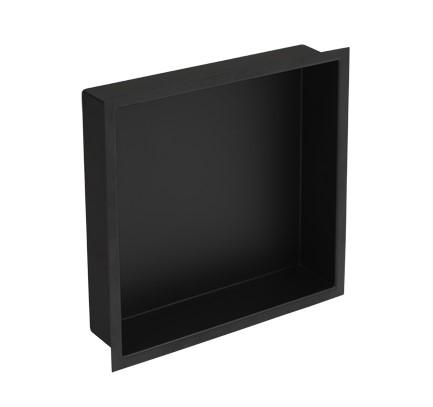 Plieger Inbox inbouwnis 30x30x7.5cm matzwart
