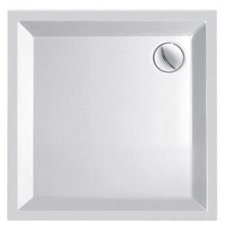 Plieger Kwadrant kunststof douchebak acryl vierkant 90x90x5cm m. vierkante inzet wit