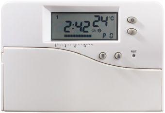 Plieger Milton klokthermostaat digitaal 24V Milton wit
